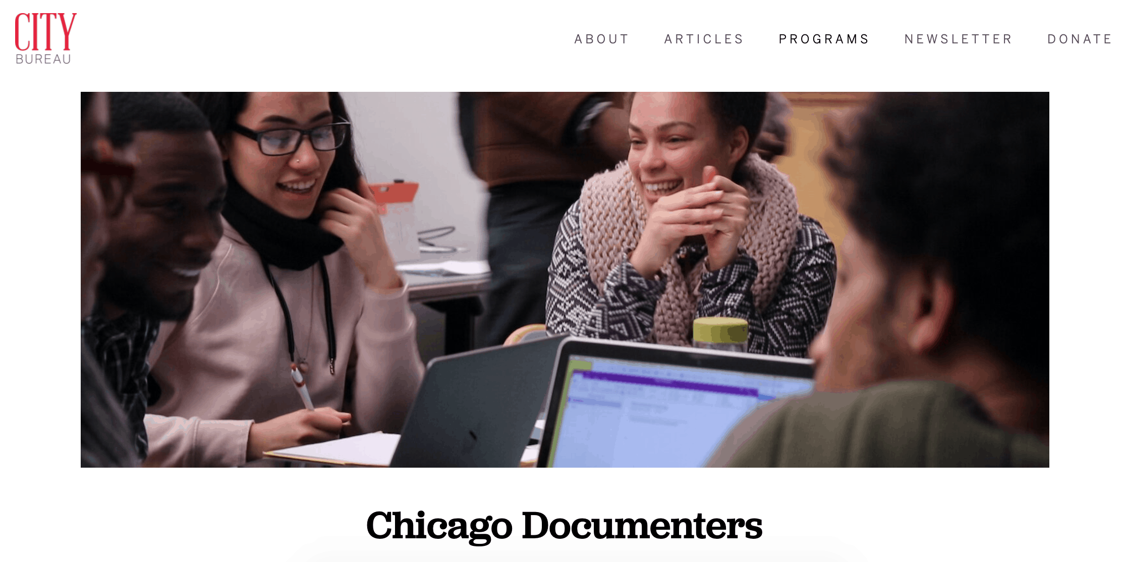 An image of citizen journalists in Chicago